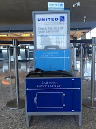 united airline carry on if the suitcase fits read the article
