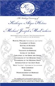 In Memory Of Wedding Program Graphic Design