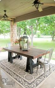white round outdoor patio table diy table pottery barn inspired outdoor dining pottery and barn