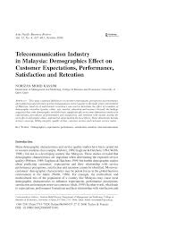telecommunication industry in malaysia demographics effect on