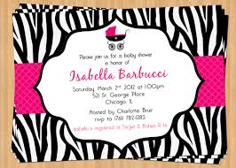 zebra print baby shower invitations zebra print baby shower