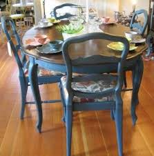 blue painted dining table aubusson blue thinking about doing this to my table bits pieces