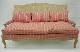 wicker back french country style sofa