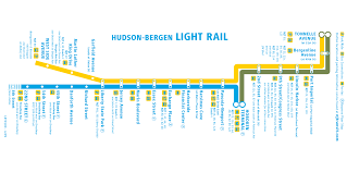 hudson light rail schedule hudson bergen light rail map mapsof net
