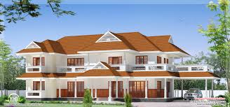 luxury two storey house design kerala home floor plans house