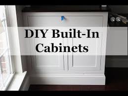 beaded face frame cabinet construction diy built in cabinets with beaded face frames youtube
