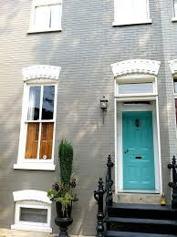 Grey House Paint by Best 25 Turquoise Front Doors Ideas On Pinterest Turquoise Door