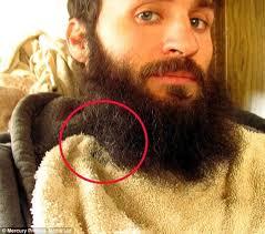 Hairy Men Meme - animal lover raises an orphaned chick in his beard daily mail online