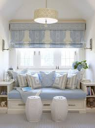 Flat Roman Shades - traditional living room with pendant light u0026 window seat zillow
