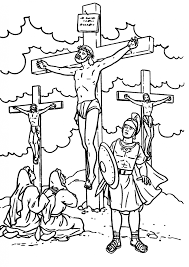 jesus on cross coloring page coloring home