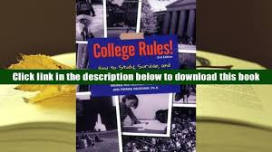free download college rules how to study survive and succeed