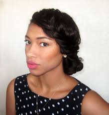 best hairstyles for relaxed hair how to style relaxed hair side braid bun on relaxed hair one of my go to hair styles to