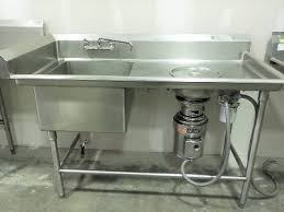 Kitchen Sink Erator by Stainless Steel 1 Compartment Prep Sink With In Sink Erator U2013 The