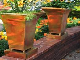 laundry table with shelves large bronze planters large outdoor