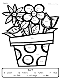 coloring pages fact color by number pages it has addition