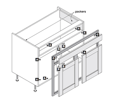 Concealed Kitchen In Frame Fit Kit Instructions Cabinet Base - Kitchen cabinets base units