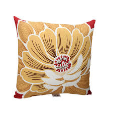 hampton bay chili flower square outdoor throw pillow 7055 04229611
