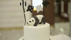 happy birthday cake child first birthday party panda style cake