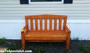 diy 2x4 bench for outdoors howtospecialist how to build step