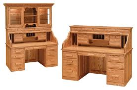 Solid Oak Desk With Hutch by Roll Top Computer Desk With Hutch Best Home Furniture Decoration