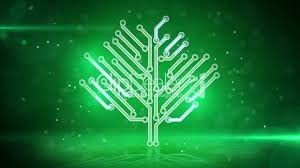 green electronic hi tech tree loop royalty free and stock footage