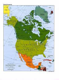 map of america with country names america map