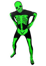 Boys Skeleton Halloween Costume Mens Glow Skeleton Morphsuit