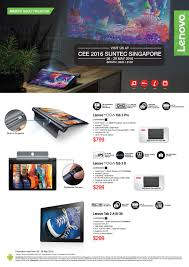 lenovo android tablet projector brochures from cee show 2016