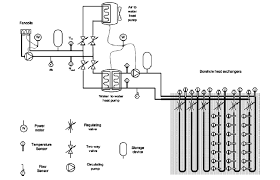 geocool schematic diagram the air to water heat pump and the