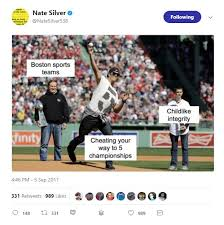 Red Sox Meme - nate silver slammed for tweet making fun of red sox cheating