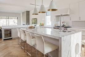 des id馥s pour la cuisine dosseret et plan de travail marbre pour la cuisine en 80 idées