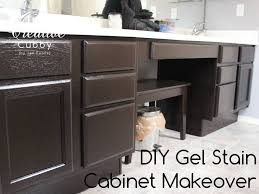 what is gel stain for cabinets the creative cubby diy gel stain cabinet makeover