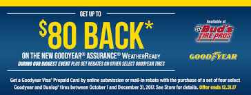 ready prepaid card get up to 80 on a goodyear visa prepaid card when you purchase a