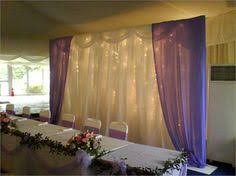 wedding backdrop stand rental pipe drape table we can do this using a stage tables and