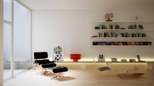 Painted Wall Paneling by White Wall Mounted Bookshelf Adhered On White Painted Wall Toward