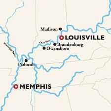 kentucky backroads map mississippi river cruise kentucky bourbon tour