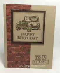 guy greetings masculine birthday card stampin u0027 up rubber