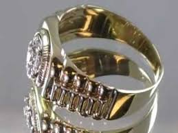 golden rings ebay images Rolex style men 39 s diamond ring 14k gold men 39 s diamond ring rolex jpg
