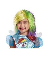 Pony Halloween Costume Girls Pony Rainbow Dash Big Girls Wig Girls Costumes Kids