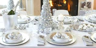 silver centerpieces for dining table beautiful white table