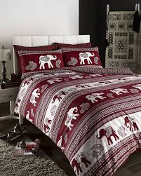 de cama empire elephant printed animal print duvet cover set wine