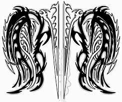 tribal wings by mayhemthefox on deviantart