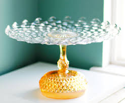 Crystal Pedestal Cake Stand Cake Stand In Golden Peach For Gold Weddings 14