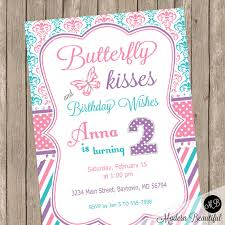 butterfly birthday invitation butterfly theme girls