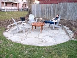 Building Flagstone Patio Stone Patio Table