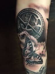 tattoo compass realistic realistic compass and butterfly in black and gray