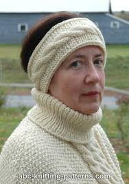 knitted headband pattern abc knitting patterns headband with cable