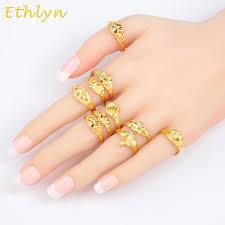 women jewelry rings images Ethlyn ethiopian wedding women rings gold color adjustable jewelry jpg