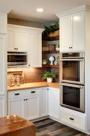cuisine en angle étagères ouvertes dans la cuisine 53 idées photos