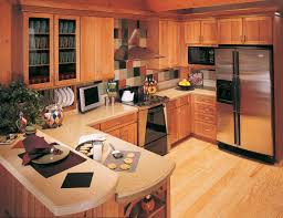 Merillat Kitchen Cabinets by Bathroom Brown Merillat Cabinets Plus Silver Oven And Tv Plus